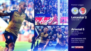 Leics 2 Arsenal 5